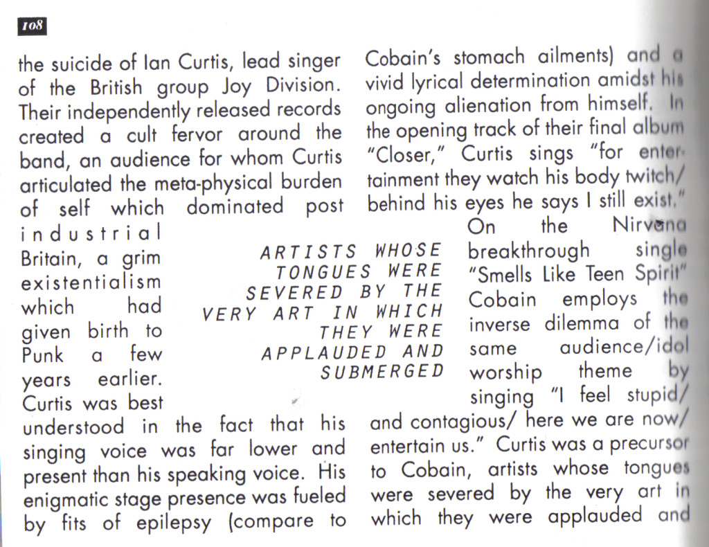 musings on Cobain circa 1994