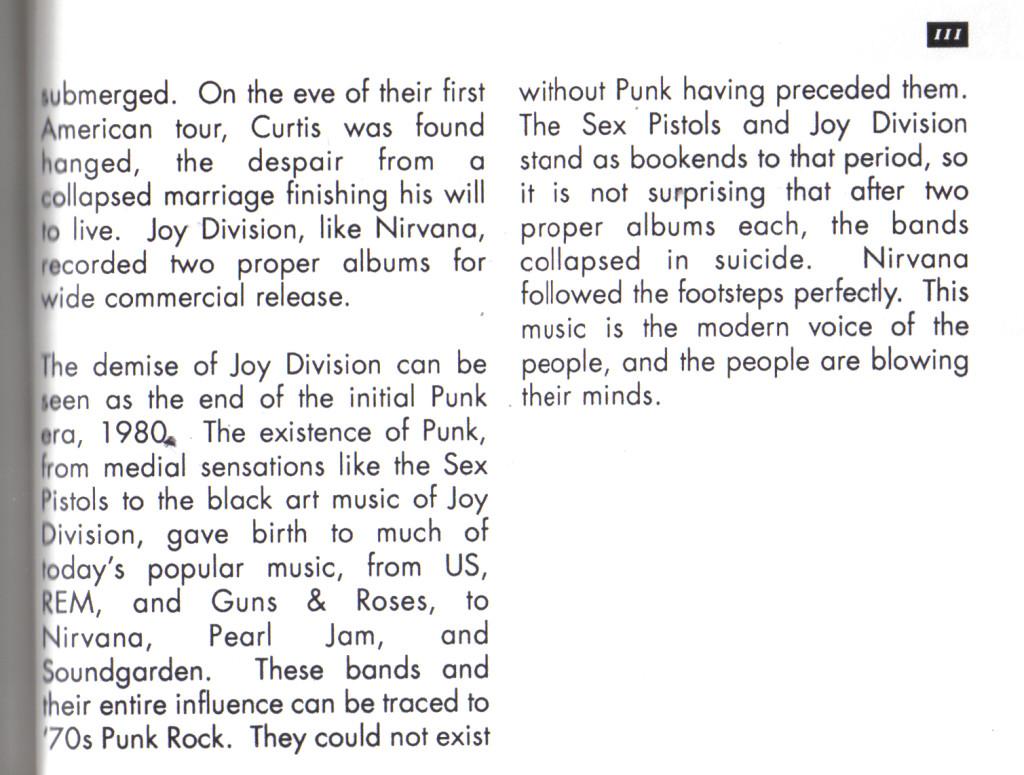 musings on Cobain circa 1994